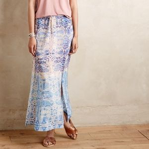 Anthropologie Waimea Maeve Maxi Skirt, Sz Small